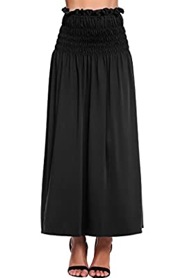 Chigant Womens Lightweight Floor Length Maxi Skirts