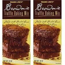 Trader Joe's Brownie Truffle Baking Mix 16 oz (Pack of 2)