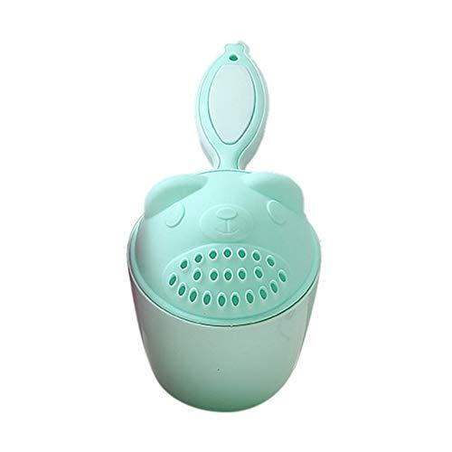 Dibujos animados bebé gorras de baño bebé champú taza niños bailer bebé ducha cucharas niño lavado pelo taza niños baño herramienta