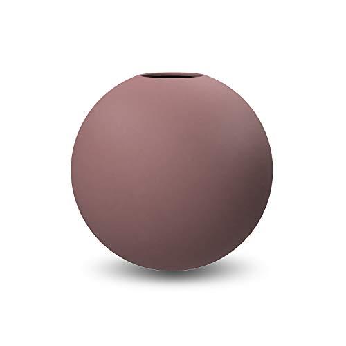 Cooee Design Ball Vase Vaso, Ceramica, Cinder Rose, 10 cm