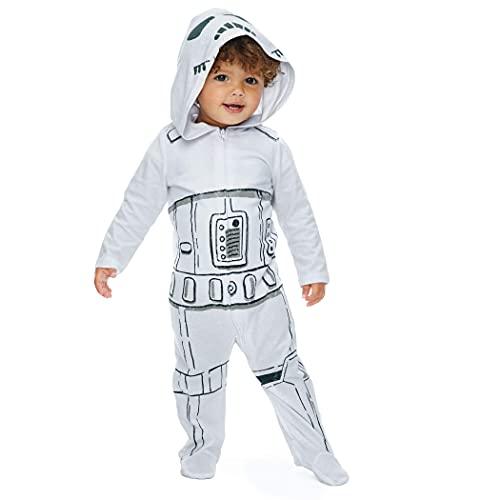 STAR WARS Storm Trooper Baby Boys Costume Zip-Up Footies with Hood 12 Months