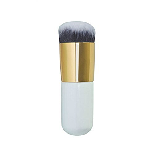 Vi.yo 1 Pièce Brosse Belle Cosmétique Brosse Maquillage pour Visage Brosse Professionnelle à Blush (Or Blanc)