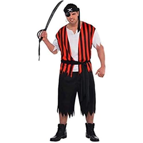 Ahoy Matey, Costume di carnevale da pirata per adulti, taglie forti