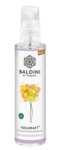 Baldini - Feelkraft BIO-Raumspray aus 100{48365806c727eb38800b2a3d33cef8967f8a202158f2ce86c731016e5fdbb328} naturreinen Rohstoffen, demeter, 50 ml