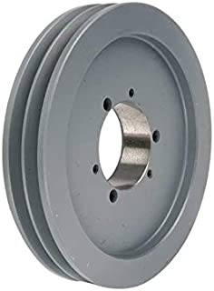 MasterDrive 2B52SDS, Bushing Bore V-Belt Pulley, Section Size: A or B, Grooves: 2, O.D. 5.55