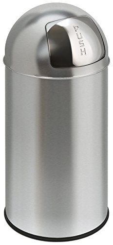 Poubelle Pushcan 40 litres Inox Mat, EKO