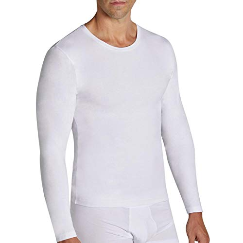 YSABEL MORA Camiseta Algodon Lycra Manga Larga 20103 (Blanca) (Mediana)