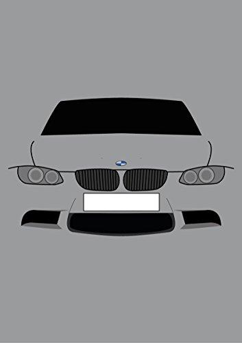 Retro Motor Company Grußkarte, Motiv: BMW E92 3er-Serie Coupé