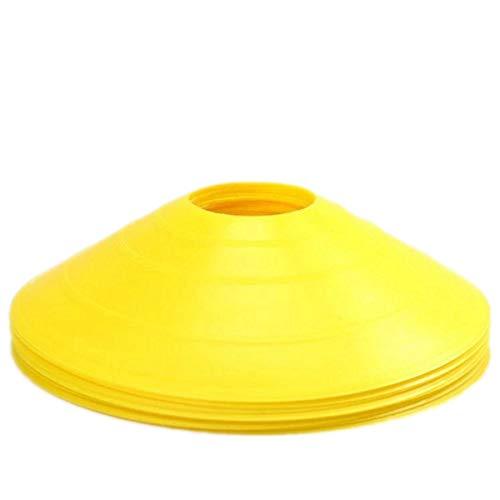 5PACK Markierungsscheiben Markierungshütchen Sport Hütchen Set zur Markierung für Das Training im Fu TIANOR (Gelb)