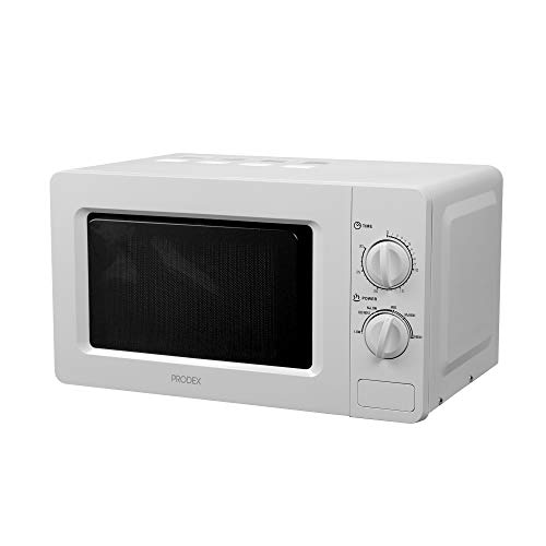 Prodex PX2080W Solo Manual Microwave, 5 Power Levels and Defrost Function, 30 Minute Timer, 20 Litre, 800 Watt, White, Metal, W, 20 liters