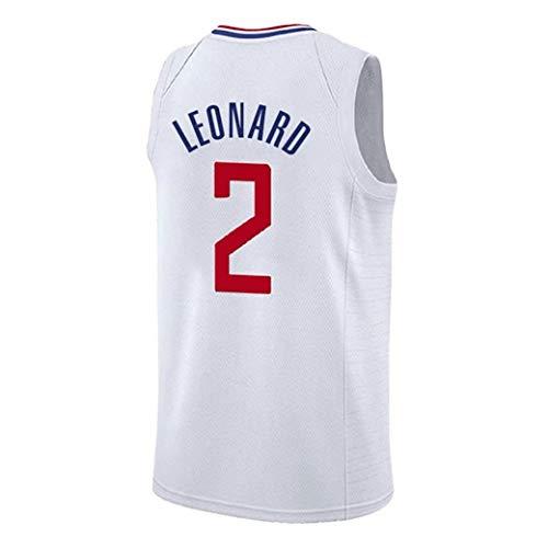 Aojing 2 Kawhi Leonard Los Angeles Clippers Unisex Sleeveless T-Shirt Basketball-Trikot NBA Swingman Jersey City Version (Color : White, Size : XL)