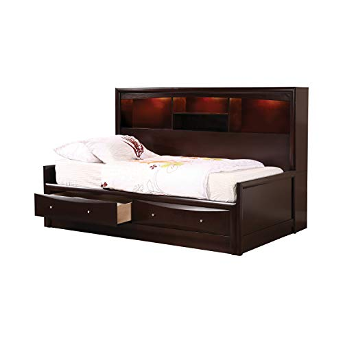 Coaster Full Storage Daybed, Cappuccino