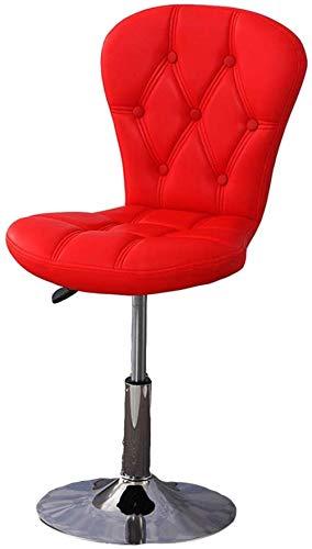 Xiuyun - Taburete de bar, bar, cocina, silla elevada y bajada rotary elegante respaldo giratorio, taburete de bar, silla giratoria rojo