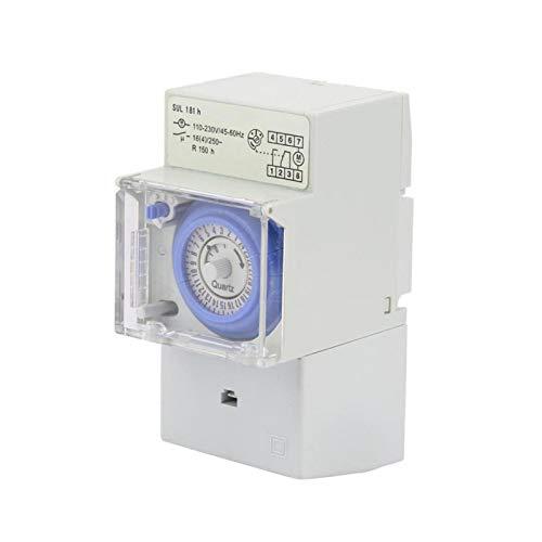 Interruptor temporizador SUL181H Interruptor temporizador controlador manual / automático Temporizador mecánico analógico de 24 horas para aplicaciones en la calle