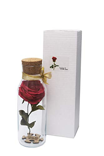 Paper Rose Flower in Gift Box