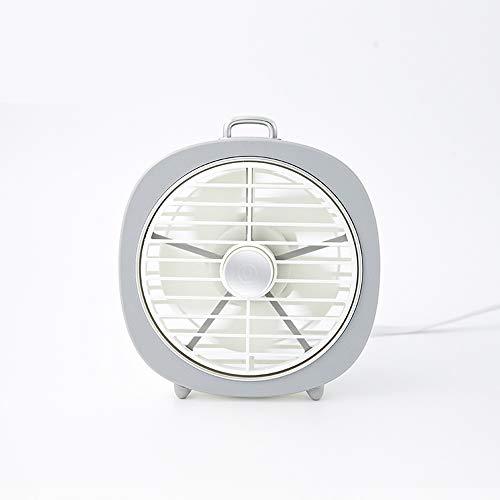 Slefpt Kleine ventilator usb studentenflat bed mini schattig slaapkamer elektrische ventilator soort desktop grote wind mute klein en draagbaar rustig geen lawaai 360 graden draaiende wind kap