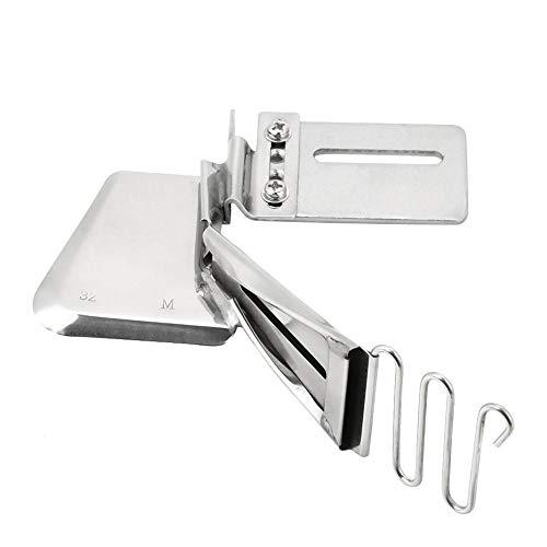 Máquina de coser industrial Fijación del pie Carpeta de hierro Doblez doble Cinta lisa Carpeta de encuadernación Accesorio