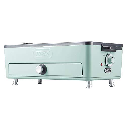 【Toffy/トフィー】 スモークレス焼肉ロースター K-SY1(ペールアクア) 低煙 おうち焼肉 グリル 2WAY 焼き網・平面プレート サイドヒーティング方式 カーボンヒーター 遠赤外線 輻射熱 ふっ素加工 おうちBBQ パーティー レトロ K-SY1-PA