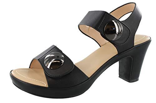 PATRIZIA Women's Dade Sandals Black EU 39 / US 8.5