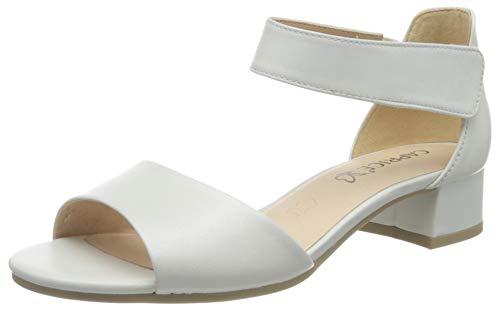 CAPRICE Damen Carla Geschlossene Sandalen, Weiß (White Perlato 139), 38 EU