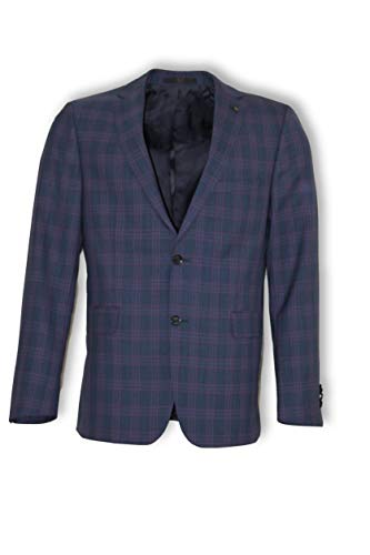 DAKS LONDON Sakko S Paco Sport UK 100% Vigrin Wool Plaid-Muster Gr. 50 EU