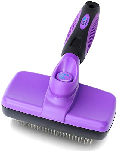 GM Pet Supplies Self Cleaning Slicker Brush | This is The Best Dog and Cat Brush for Shedding and Grooming | Our Pet Brushes Are Suitable for All Hair...