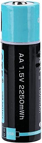 Baterías de Litio Recargables USB AA 1 5V Batería de Iones de Litio USB Batería de Litio Recargable de polímero de Litio 2550Mwh 1500Mah-1Pc