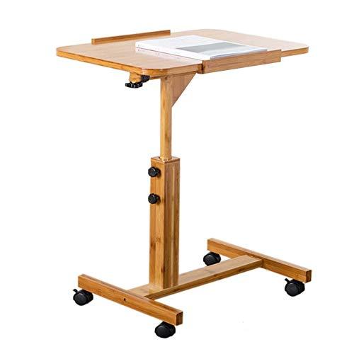 HnF Abnehmbarer Computertisch, Bett Sofa Side Schreibtisch-Multifunktions-Laptop-Büro-Tisch mit Rad, höhenverstellbare Arbeitsstation