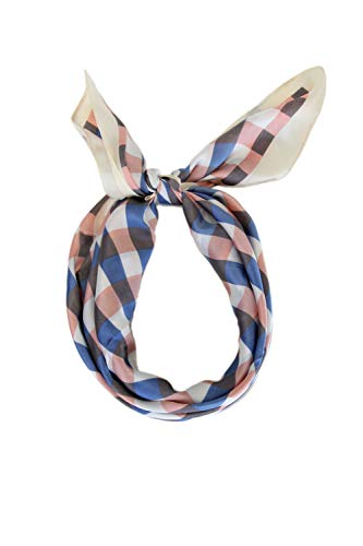 Frentree klassiek geruit dames sjaal doek | 70x70 cm vierkant halsdoek van chiffon voor de lente zomer het hele jaar door