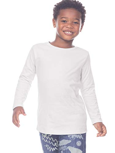 Kavio! Toddlers Crew Neck Long Sleeve White 4T