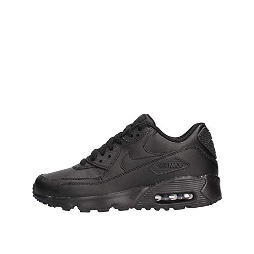 Nike Herren AIR MAX 90 LTR (GS) Traillaufschuhe, Schwarz Black 001, 38.5 EU