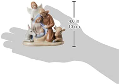 Cosmos Gifts 10520 Mini Holy Family with Angel Figurine, 3-3/4-Inch