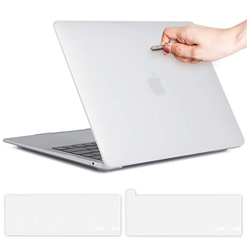 Macbook Pro 13 inch Case Clear, Hard Shell Case Cover for Macbook Pro 13.3 inch (A1706/A1708/A1989/A2159/A2251/A2289), Frosted Translucent Laptop Plastic Hard Shell Cover with 2 pcs Keyboard Cover