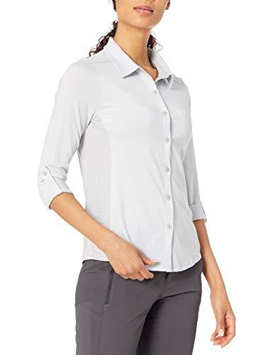 prAna Women's Kinley Shirt, Silver, Large