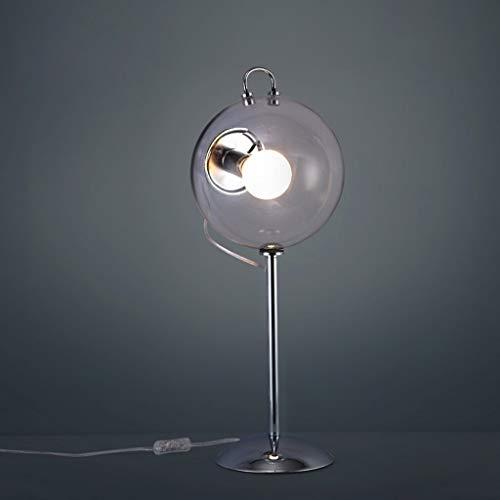 Allamp Norte de Europa Lámparas de mesa, de cristal de la personalidad simple Lámparas de mesa, moderna minimalista dormitorio lámpara de cabecera, diseño creativo de la lámpara de la sala de estar, E