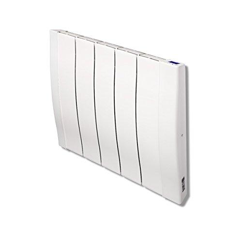 Haverland RC5W - Emisor Térmico De Inercia De Fundición De Aluminio Bajo Consumo, 800 de Potencia, 5 Elementos, Pantalla LCD y Funcionamiento Programable