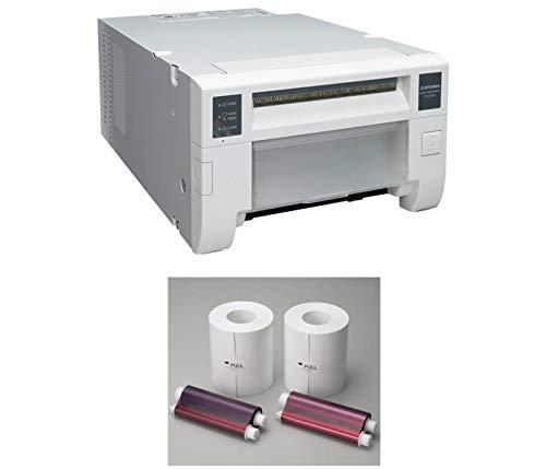 Mitsubishi CP-D70DW Compact Professional Event & Photo Booth Portrait Digital Printer with Mitsubishi Print Media 6 inch Paper, 2 Rolls (800 Prints)
