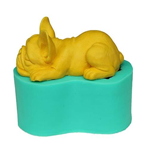 Pgige Bulldog 3D Forme Fondant Moule À Moule en Silicone Moule De Cuisson DIY Décoratif Outil De Cuisine Gâteau De Cuisson Bakeware-Green