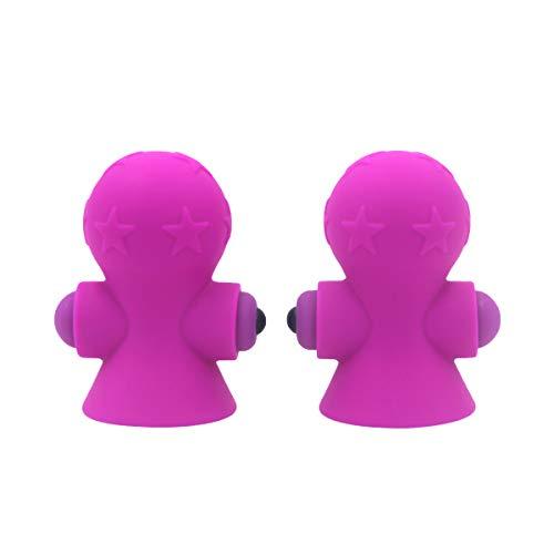 Heallily Brustmassagegerät 1 Para Silikonbrust Elektrische Pumpe Brust Wasserdichte Brust Stimulieren Nippel Sauger Sicheres Spielzeug für Frauen Weibliche (Lila)