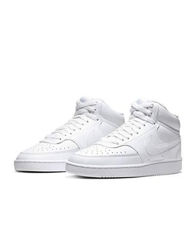 Nike Zapatillas Court Vision Mid, color Blanco, talla 46 EU