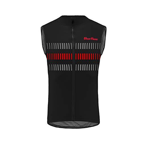 Uglyfrog Maillot Ciclismo Hombre,Camiseta Sin Mangas Top Bicicleta Chalecos Verano de Ciclistas Cycling Vest ESH19VSV09