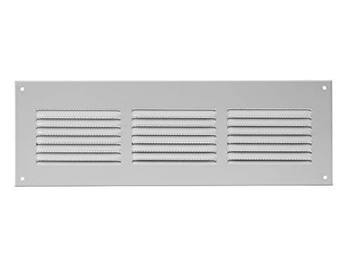 300x150mm Weiß Lüftungsgitter Abschlussgitter Insektenschutz Abluft Zuluft Metall Gitter