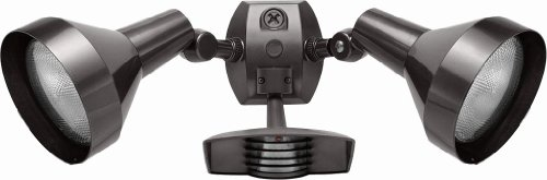 RAB Lighting STL110H Stealth 110 Sensor with Twin Precision Die Cast H101 Deluxe Shielded Floods, Aluminum, 110 Degrees View Detection, 1000W Power, 120V, Bronze Color,Multi
