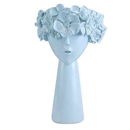 FQYYDD Cuencos decorativos decoración del hogar resina jarrón estatua maquillaje cepillo titular caja de almacenamiento | Figuras y miniaturas |