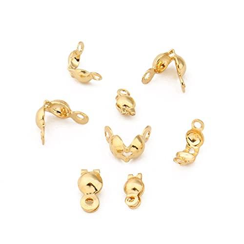 LINSO 100 Uds Collar de Acero Inoxidable Conector de Cadena Accesorios de Cierre Cadena de Bolas engarces Extremos de Cuentas para Hacer joyería DIY