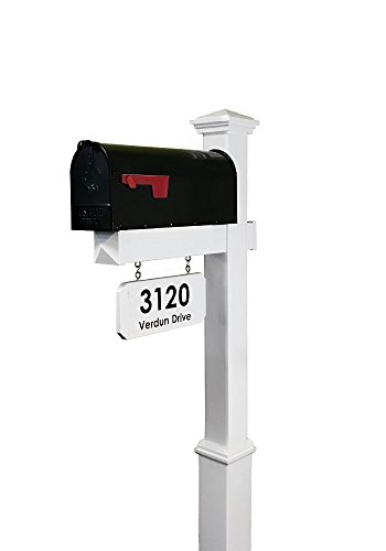 4EVER The Saybrook Vinyl/PVC Mailbox Post (Includes Mailbox)