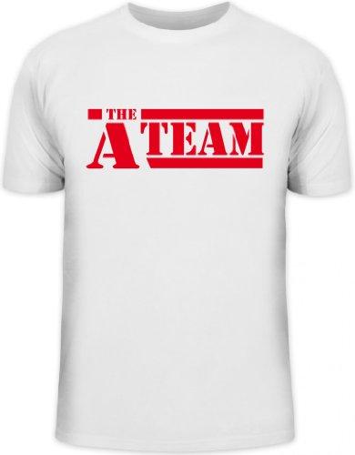 Shirtstreet24, A-Team, Kult Serie Shirt, Größe: XL,weiß