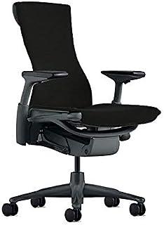 【正規品】Herman Miller (ハーマンミラー) エンボディチェア オフィスチェア グラファイト(ブラック) メドレー:シンダー BBキャスター 12年保証 CN122AWAAG1G1BB1HA04