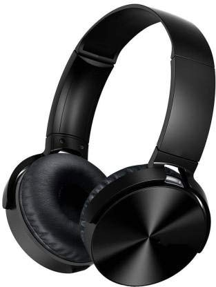 Praxan Super Sound Bass MDR XB-450 On- Ear Headphone with Microphone Wired Headphone (Multicolors)