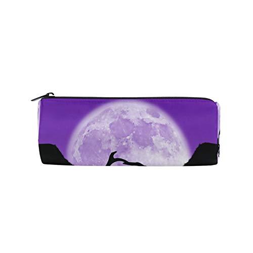 JNlover Animal Deer Moon - Estuche para lápices, diseño de ciervo y luna, para adolescentes, niños, oficina